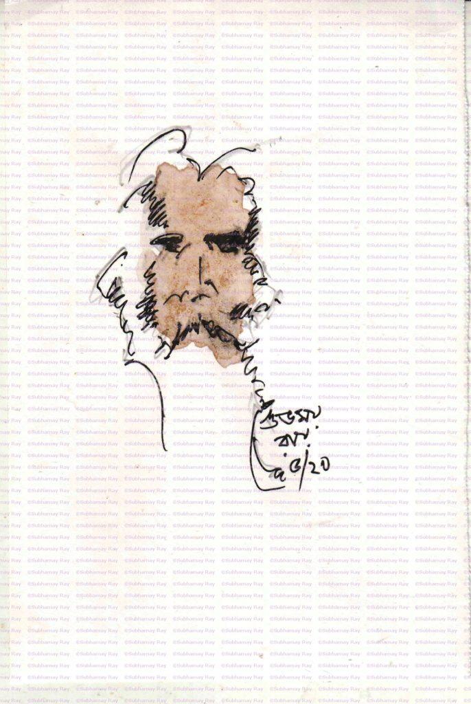 sketch of rabindranath tagore