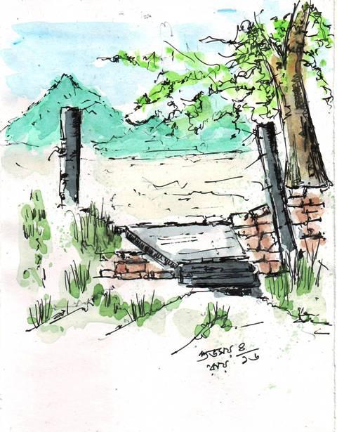 pen-and-wash-sketch-landscape