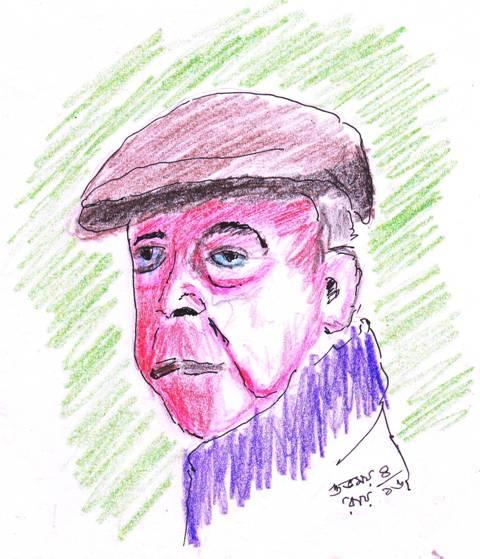 jacques-prevert-pencil-sketch