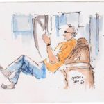 urban sketching people
