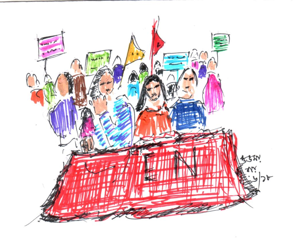 sketch of a publi rally-sketch pens