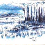 Ink and Wash Landscape