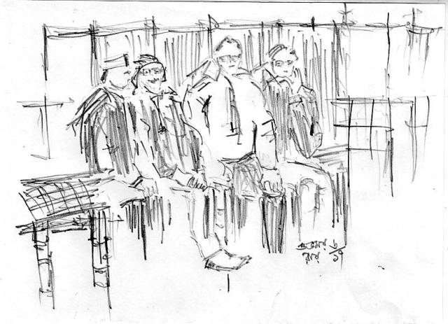 senior-citizen-pencil-sketch - urban sketching people