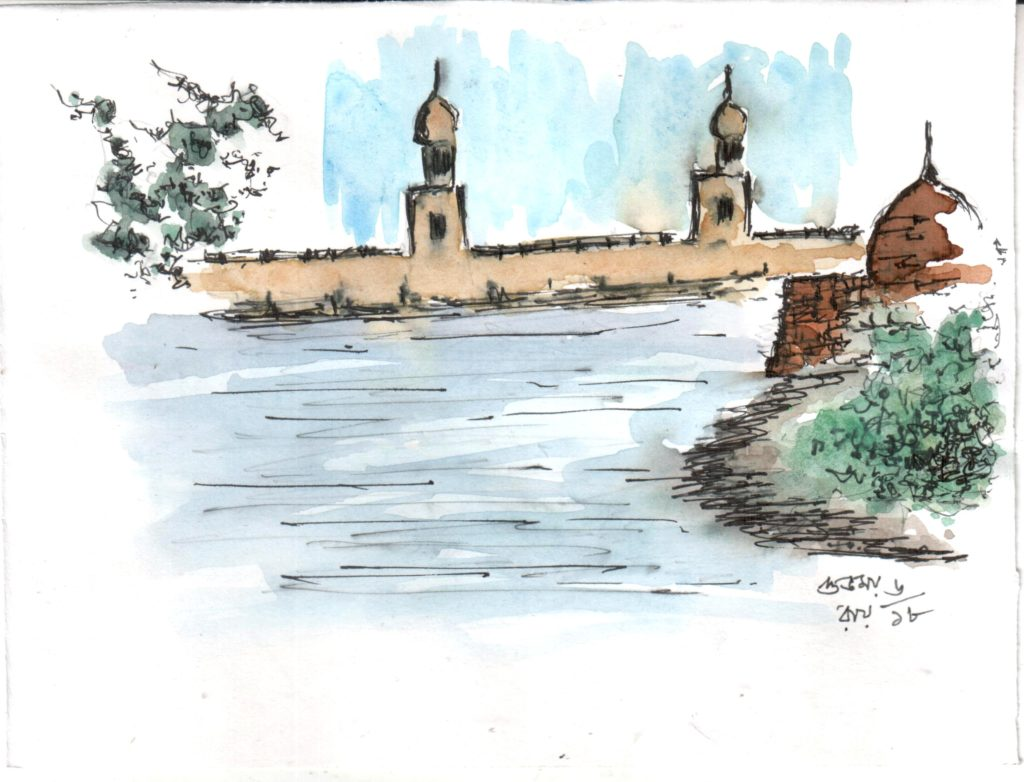 line-and-wash-water-colour-sketch